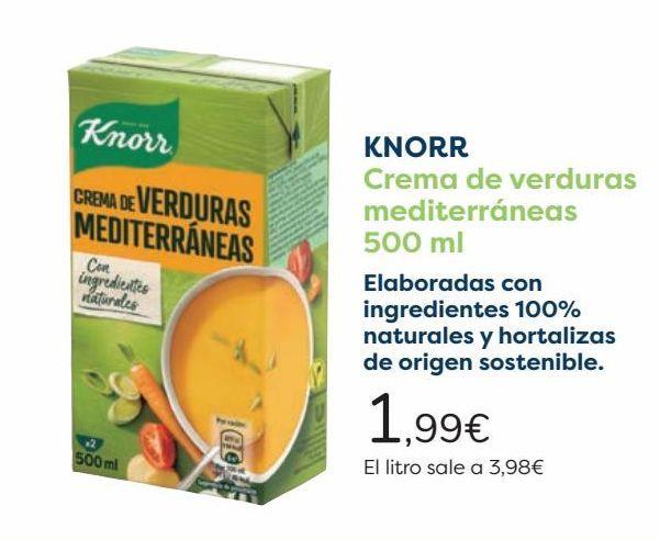 Oferta de KNORR Crema de verduras mediterráneas  por 1,99€