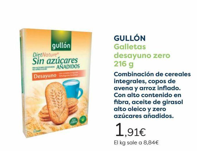 Oferta de GULLÓN Galletas desayuno zero por 1,91€