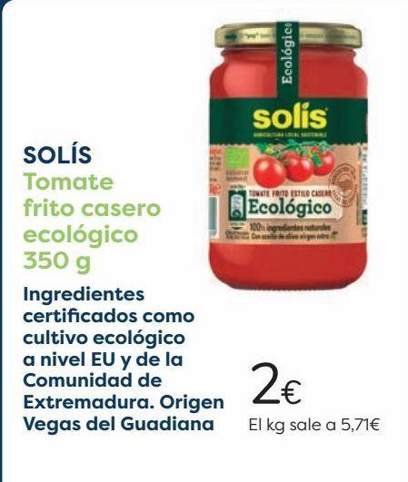 Oferta de SOLÍS Tomate frito casero ecológico  por 2€
