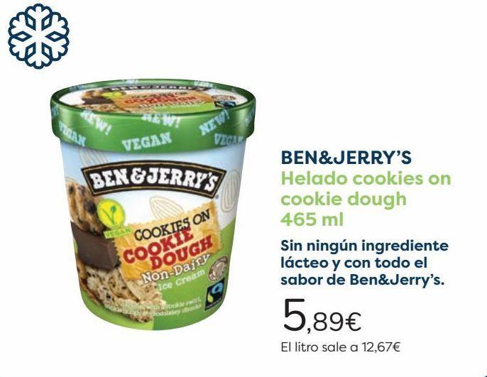Oferta de BEN&JERRY'S Helado cookies on cookie dough por 5,89€