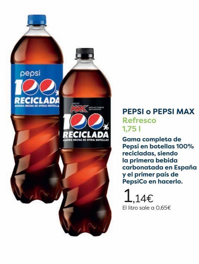 Oferta de PEPSI o PEPSI MAX Refresco  por 1,14€