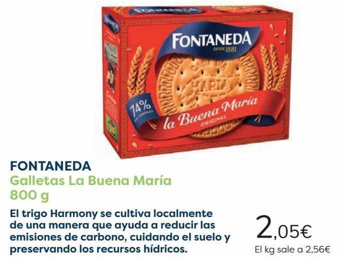 Oferta de FONTANEDA Galletas La Buena María por 2,05€