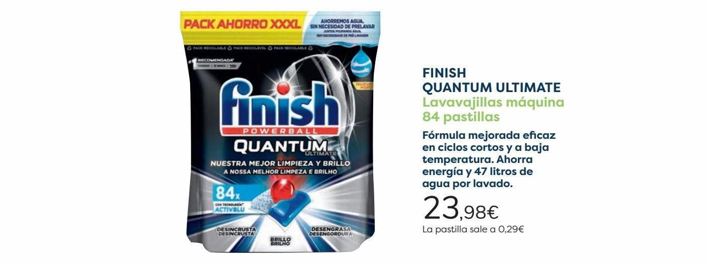 Oferta de FINISH QUANTUM ULTIMATE Lavavajillas máquina  por 23,98€
