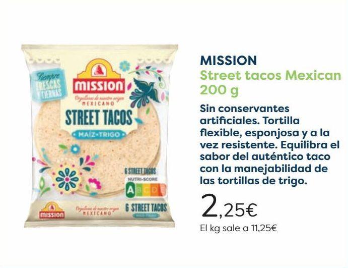 Oferta de MISSION Street tacos Mexican por 2,25€