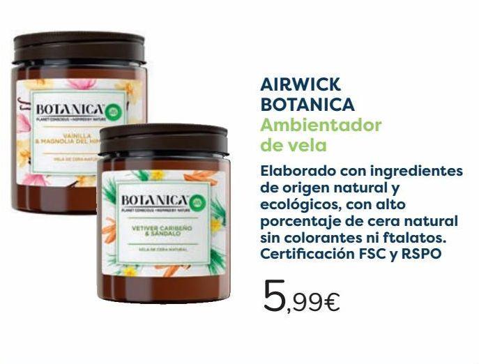 Oferta de AIRWICK BOTANICA Ambientador de vela  por 5,99€