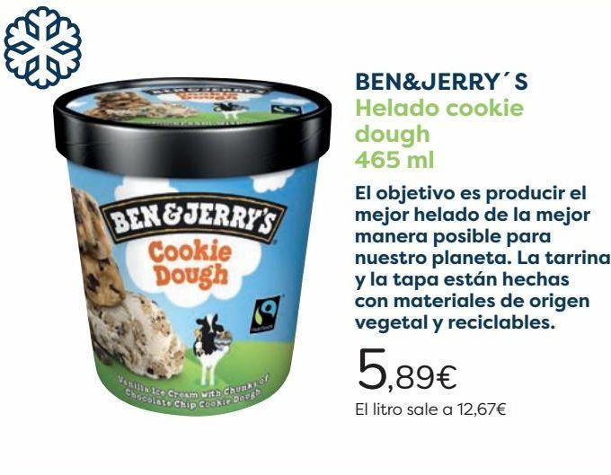 Oferta de BEN&JERRY'S Helado cookie dough por 5,89€