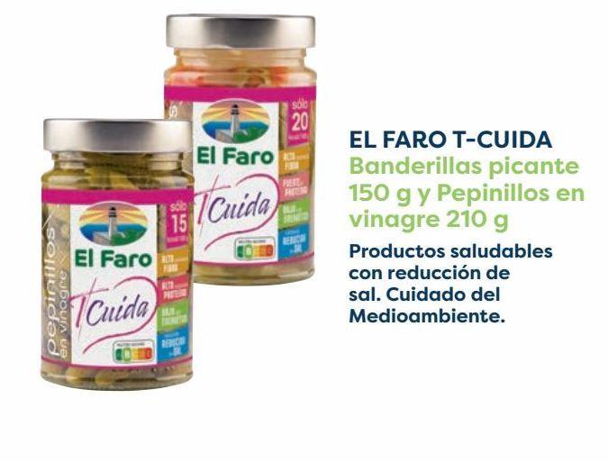 Oferta de EL FARO T-CUIDA Banderillas picante y Pepinillos en vinagre por
