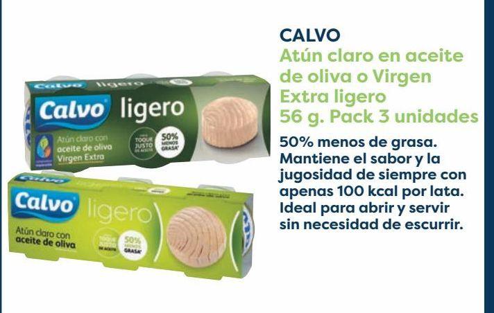 Oferta de CALVO Atún claro en aceite de oliva o Virgen Extra ligero por