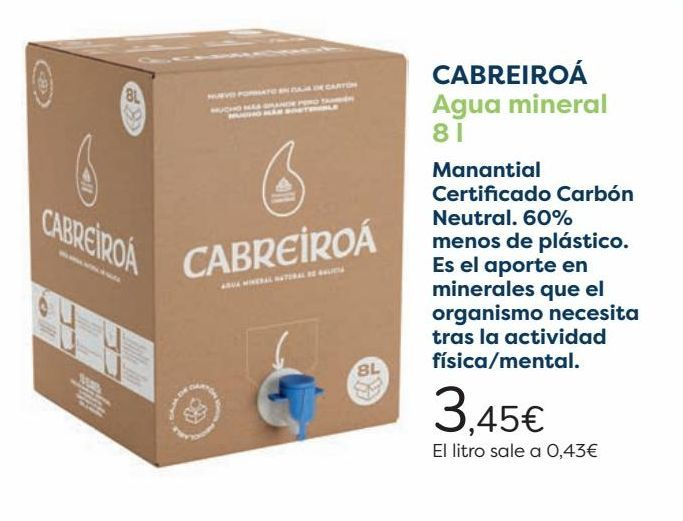 Oferta de CABREIROÁ Agua mineral   por 3,45€