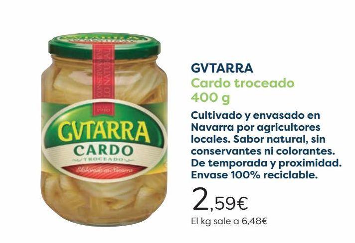 Oferta de GVTARRA Cardo troceado  por 2,59€