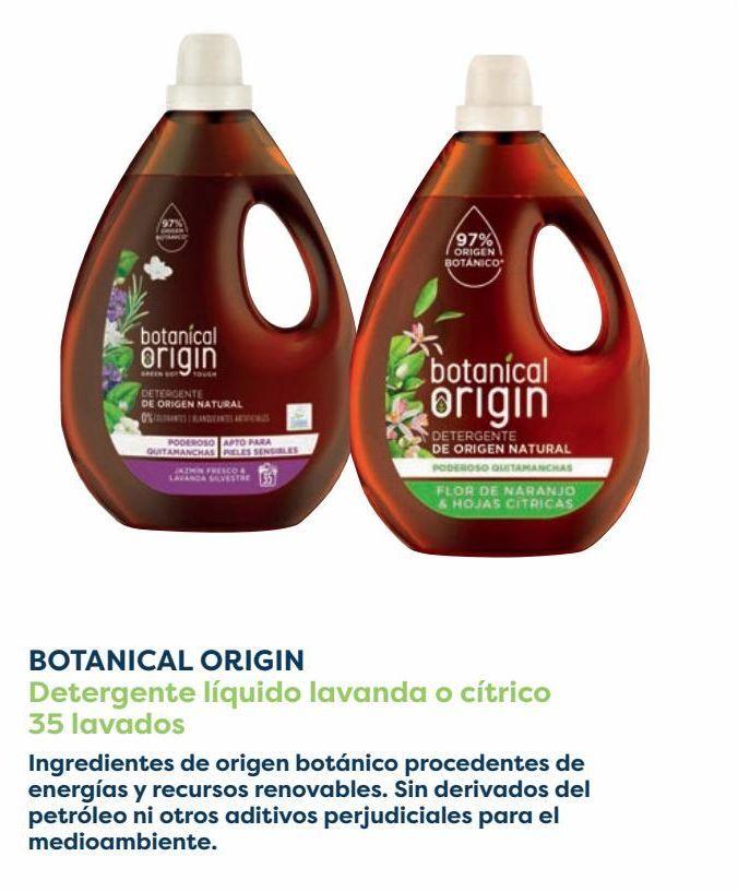 Oferta de BOTANICAL ORIGIN Detergente líquido lavanda o cítrico  por