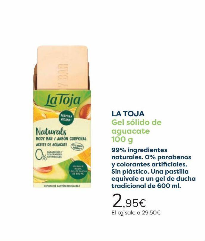 Oferta de LA TOJA Gel sólido de aguacate  por 2,95€