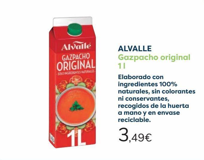 Oferta de ALVALLE Gazpacho original por 3,49€