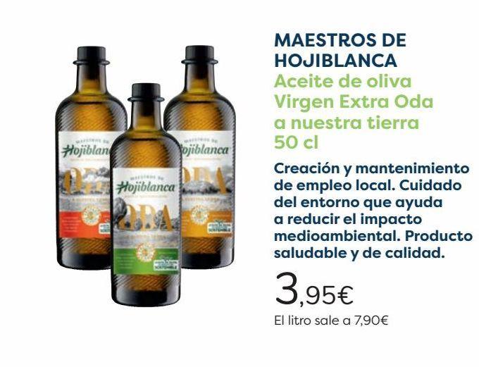 Oferta de MAESTROS DE HOJIBLANCA Aceite de oliva Virgen Extra Oda a nuestra Tierra  por 3,95€