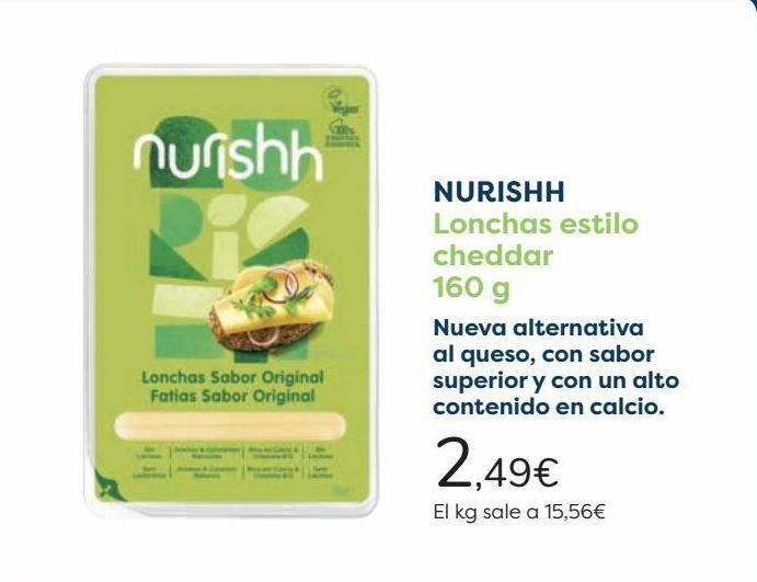 Oferta de NURISHH Lonchas estilo cheddar  por 2,49€