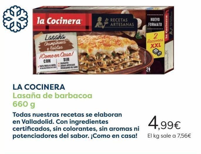 Oferta de LA COCINERA Lasaña de barbacoa  por 4,99€