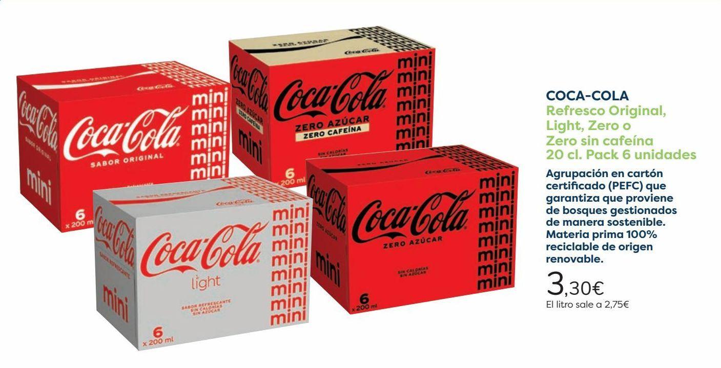 Oferta de COCA COLA Refresco Original, Light, Zero o Zero sin cafeína  por 3,3€