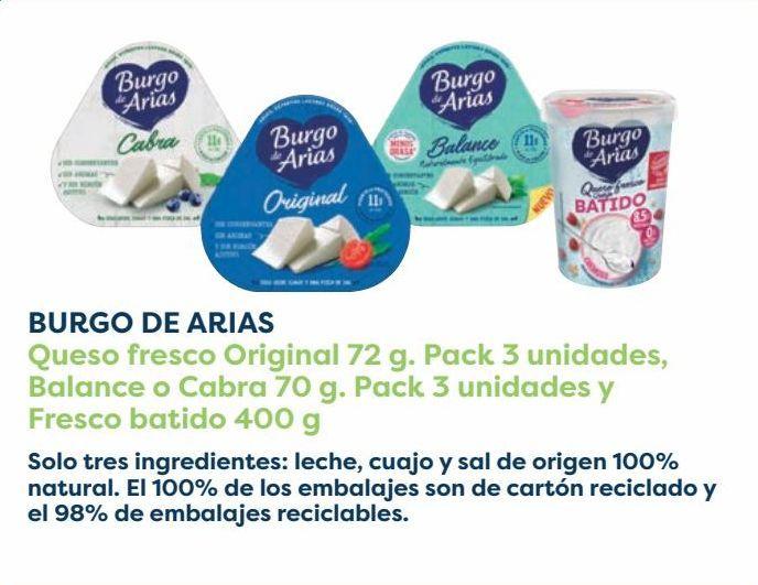 Oferta de BURGO DE ARIAS Queso Fresco Original, Balance o Cabra y Fresco batido  por