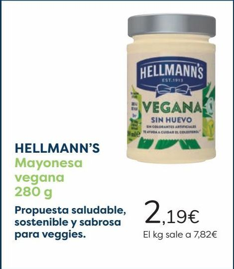 Oferta de HELLMANN'S Mayonesa vegana  por 2,19€