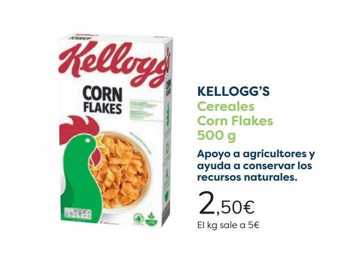 Oferta de KELLOGG'S Cereales Corn Flakes por 2,5€