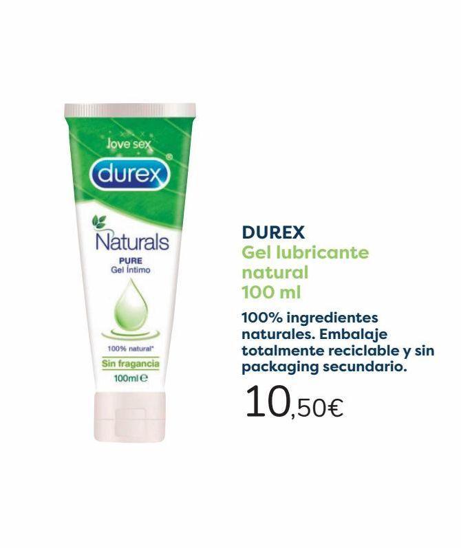 Oferta de DUREX Gel lubricante natural  por 10,5€