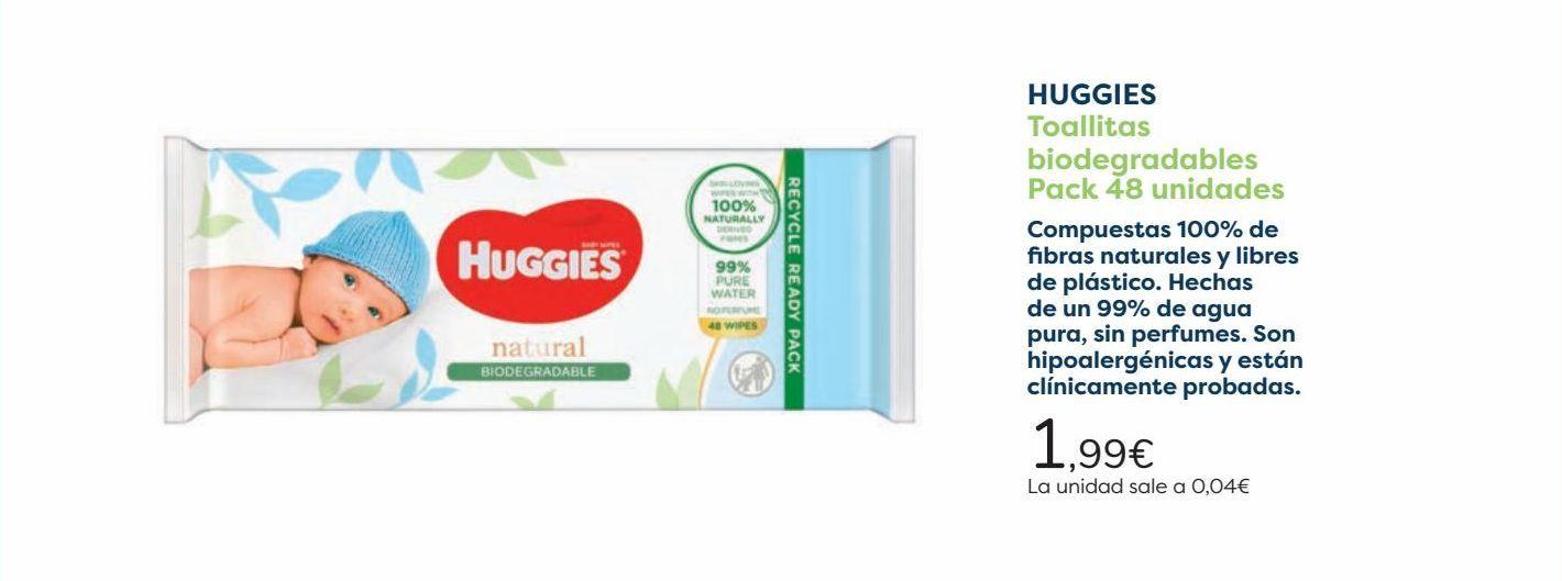 Oferta de HUGGIES Toallitas biodegradables  por 1,99€
