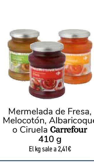 Oferta de Mermelada de Fresa, Melocotón, Albaricoque o Ciruela Carrefour por 0,99€