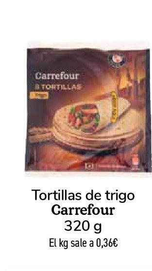 Oferta de Tortillas de trigo Carrefour 320 g por 0,99€