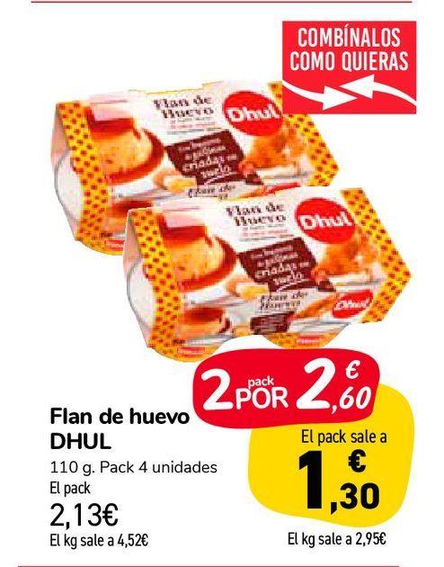 Oferta de Flan de huevo DHUL por 2,13€