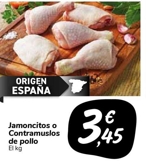 Oferta de Jamoncitos o Contramuslos de pollo por 3,45€
