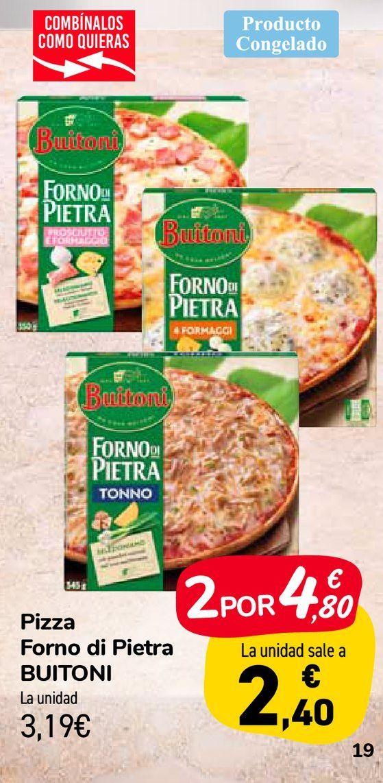 Oferta de Pizzas Forno di Pietra BUITONI por 3,19€