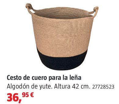 Oferta de Cesto de cuero para leña por 36,95€