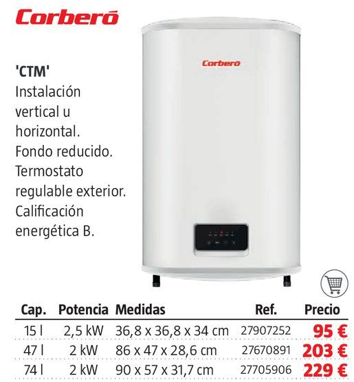 Oferta de Termo eléctrico Corberó por 95€