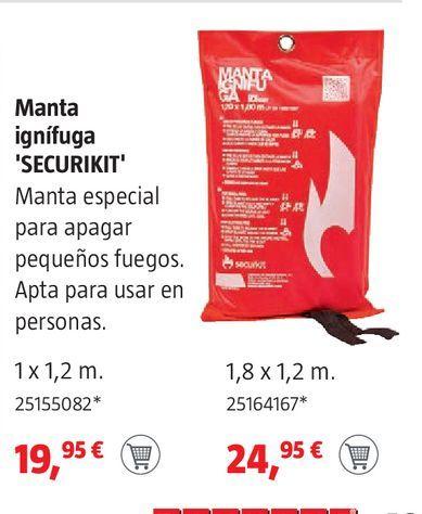 Oferta de Manta ignífuga  por 19,95€