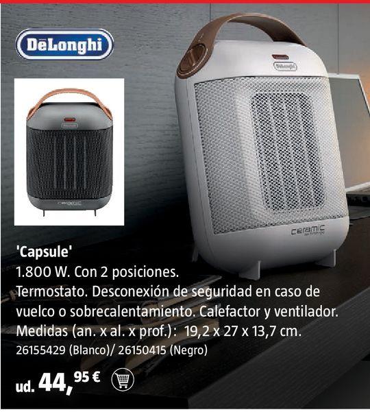 Oferta de Calefactor DeLonghi negro por 44,95€