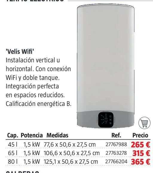 Oferta de Termo eléctrico por 265€