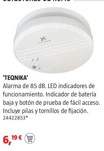 Oferta de Detector de humos por 6,19€