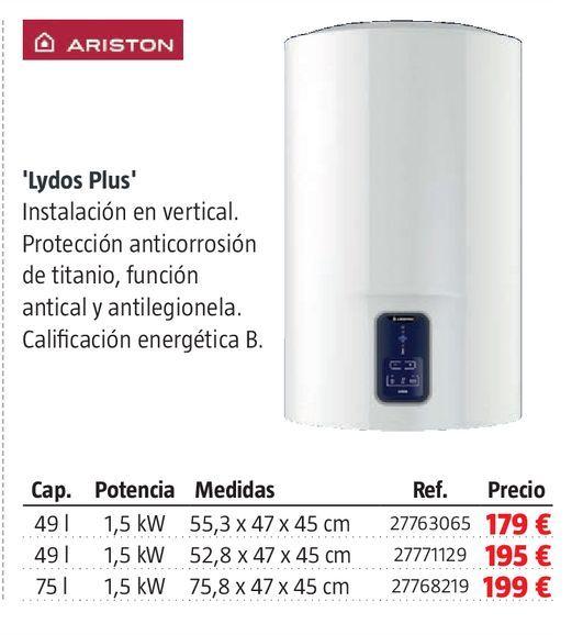 Oferta de Termo eléctrico Ariston por 179€