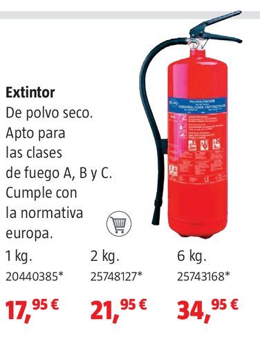 Oferta de Extintor por 17,95€