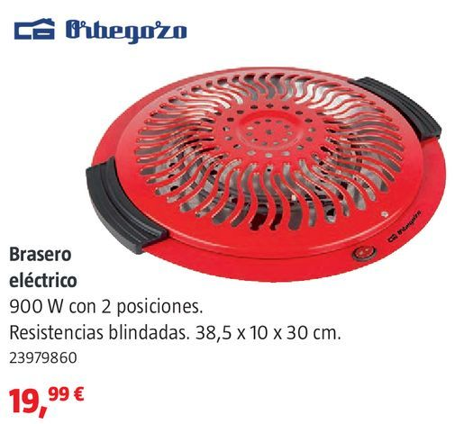 Oferta de Brasero eléctrico Orbegozo por 19,99€