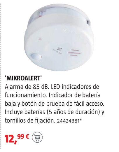 Oferta de Detector de humos por 12,99€