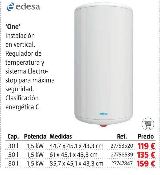 Oferta de Termo eléctrico Edesa por 119€
