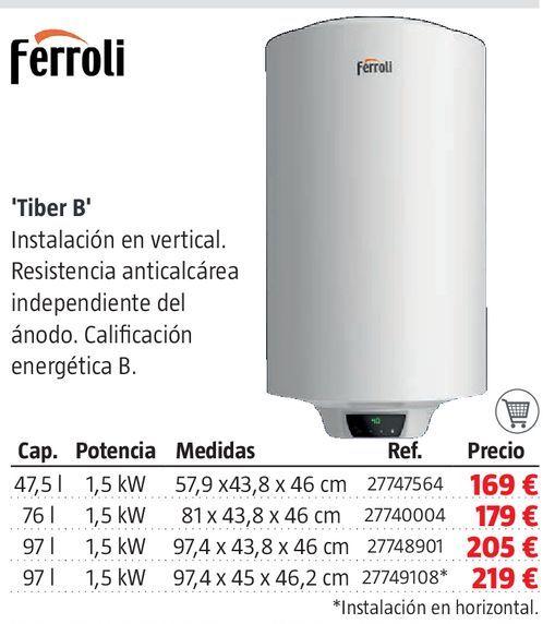 Oferta de Termo eléctrico Ferroli por 169€