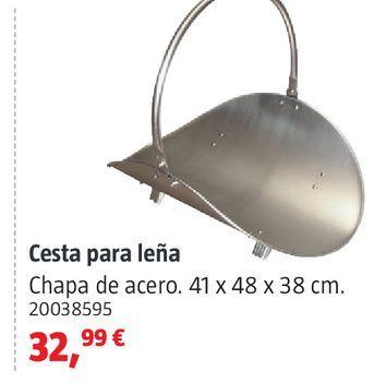 Oferta de Cesta para leña por 32,99€