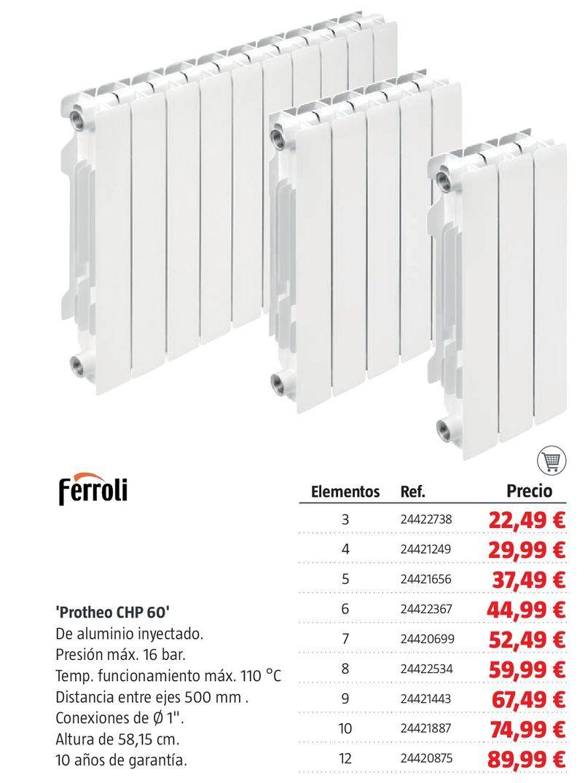 Oferta de Radiadores Ferroli por 22,49€