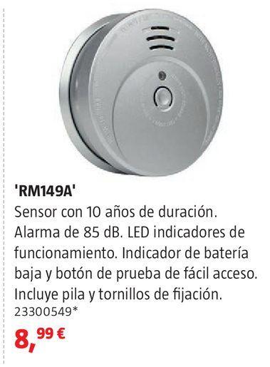 Oferta de Detector de humos por 8,99€
