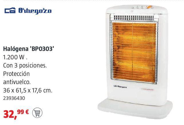 Oferta de Calefactor de pie Orbegozo por 32,99€