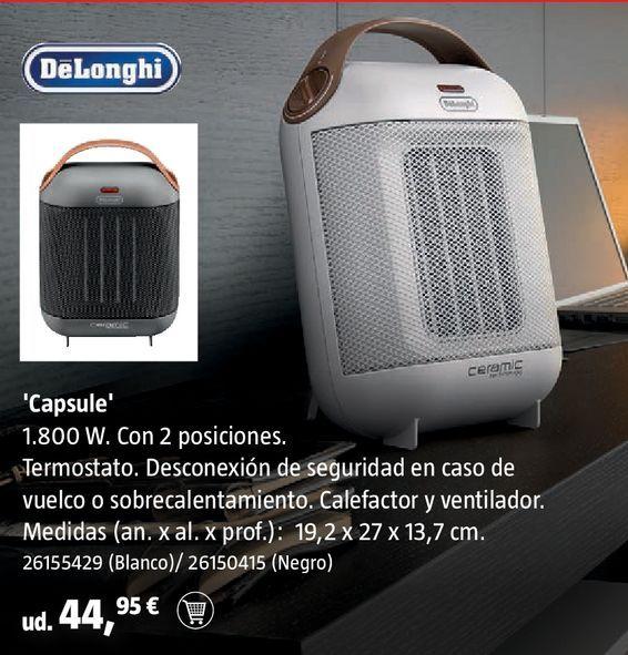 Oferta de Calefactor DeLonghi blanco por 44,95€