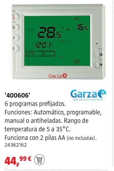 Oferta de Cronotermostato digital Garza por 44,99€