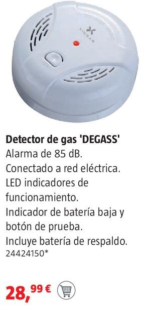 Oferta de Detector de gas  por 28,99€